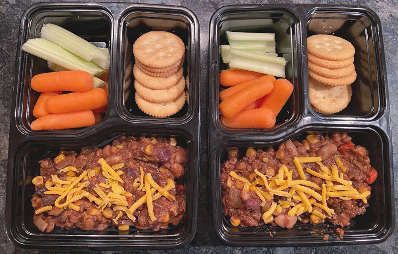 use vegetarian chili for meal prep