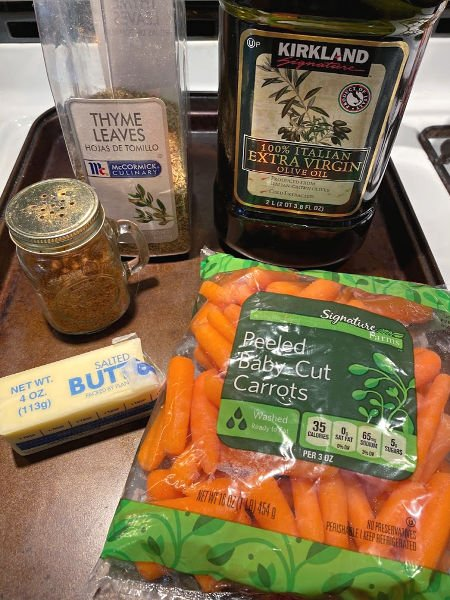 carrots need butter & thyme ingredients