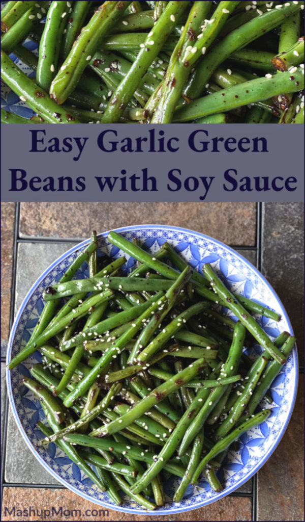 20 minute vegetarian stir fry, anyone? Easy Garlic Green Beans with Soy Sauce is such an addictively fresh & flavorful side dish, using fresh green beans & lots of garlic.