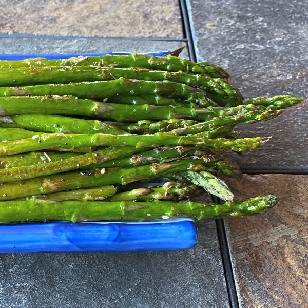 oven roasted everything asparagus