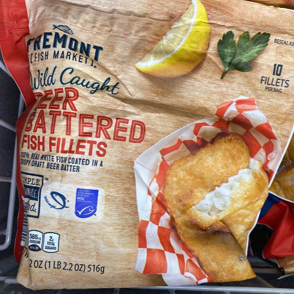 beer battered fish fillets at ALDI