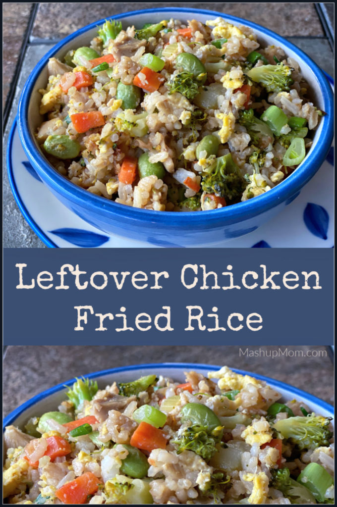 Easy Chicken Fried Rice is made with a little leftover chicken and cooked rice, plus plenty of veggies! This 20 minute weeknight dinner idea is just so simple to throw together.