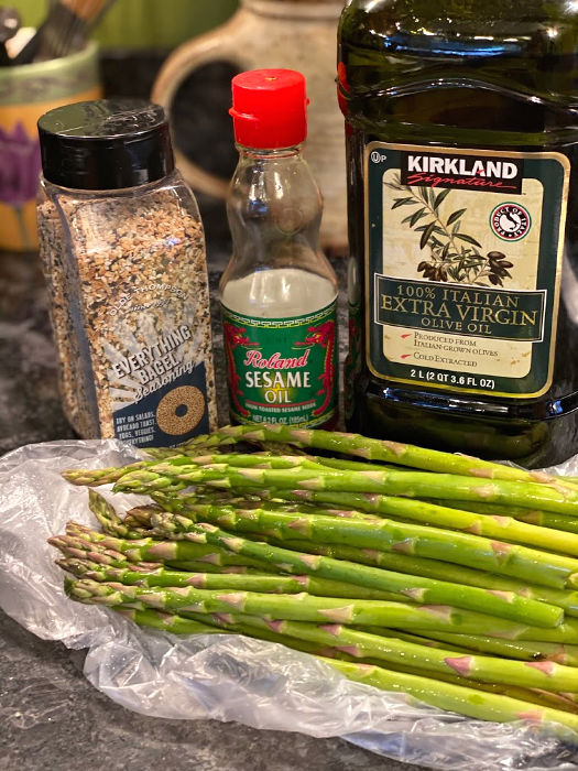Oven roasted everything asparagus ingredients