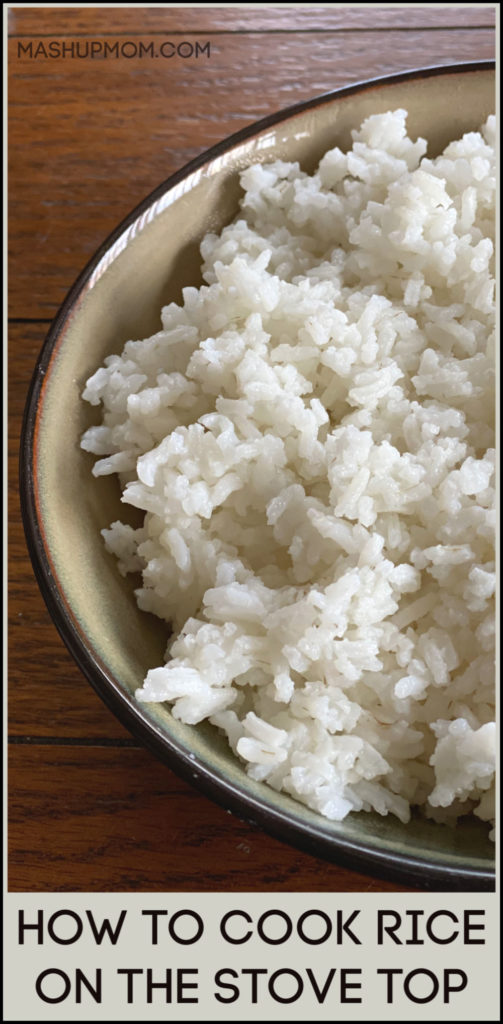 Let's talk cooking basics for a minute: Here's how to cook rice on the stove top. For perfectly fluffy rice every time, and how to make a pot of rice that doesn't stick to the pan!