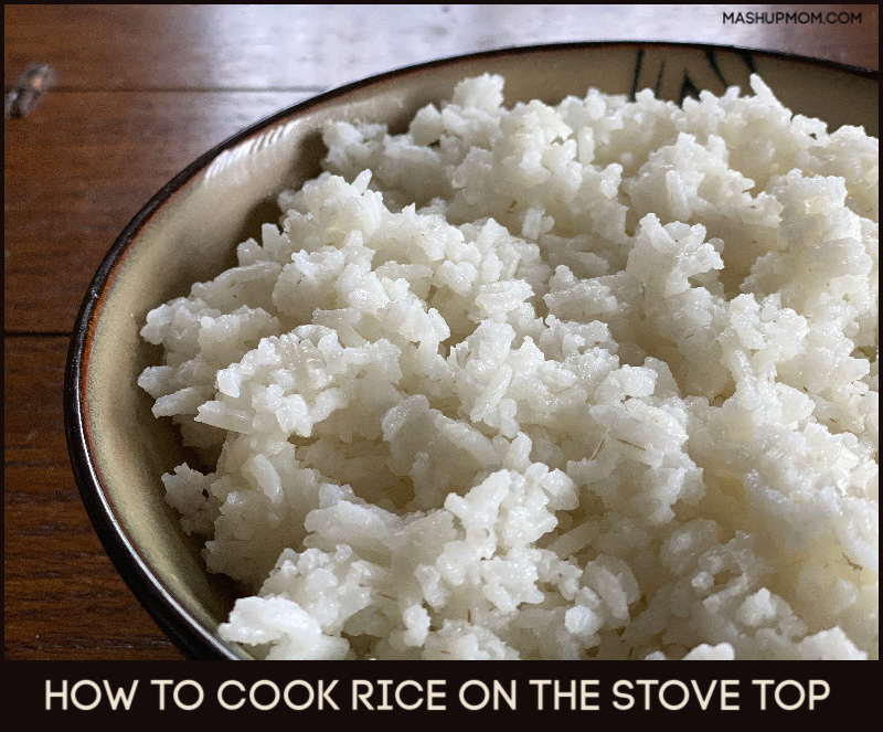 How to cook rice on the stove top -- comes out perfectly fluffy every time!