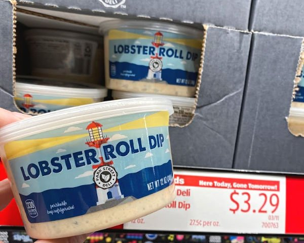 Lobster roll dip on the shelf at ALDI