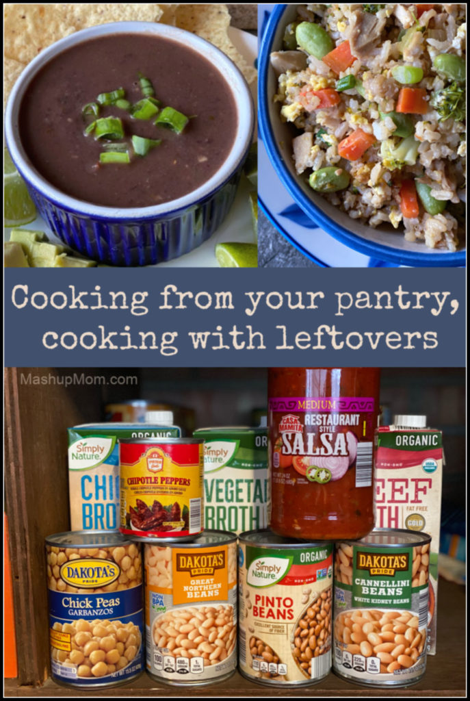 Cooking from your pantry, cooking with leftovers: Recipe ideas to help you make do with what you have, when meal planning isn't in the cards.
