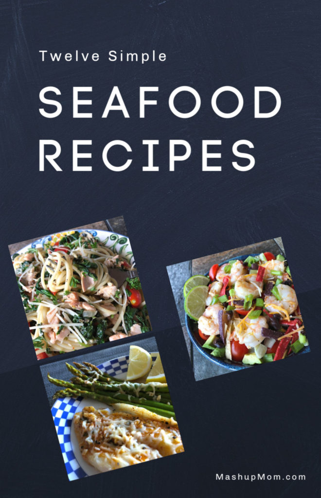 Twelve simple seafood recipes for Lent -- or, for any busy weeknight! Incorporate more fish and shrimp into your diet with these easy seafood recipe ideas.