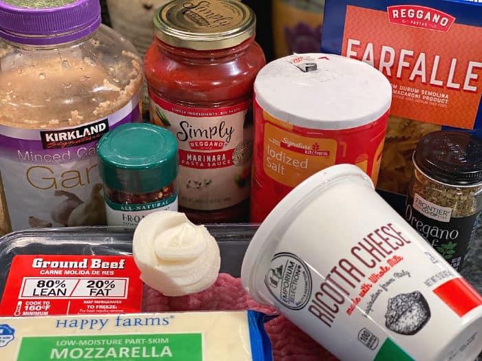 easy cheesy pasta skillet ingredients