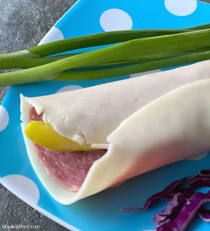 Crystal Farms Cheese Wraps, used as a sandwich wrap