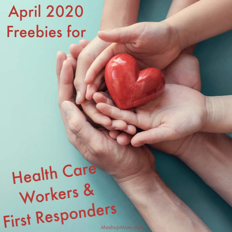 Freebies for healthcare workers and first responders during the covid-19 outbreak, April 2020.