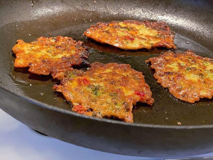 Fried Korean veggie pancakes