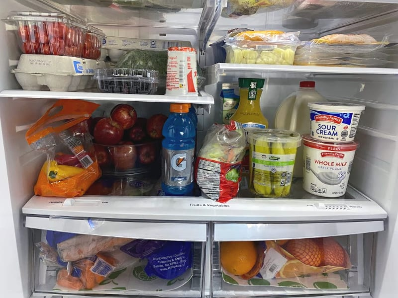 Inside my clean and well-organized fridge