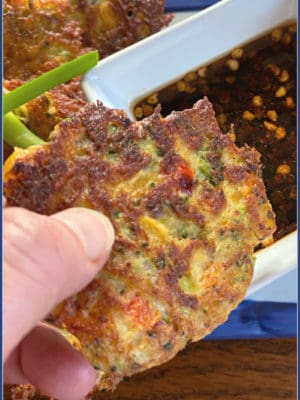 Fried comfort food in pancake form? Don't mind if I do, really! Plus, you'll even sneak a few veggies in with these Korean-Style Vegetable Pancakes: Vegetarian comfort food, with the most savory salty sauce. This is a great way to use up some leftover veggies, too.