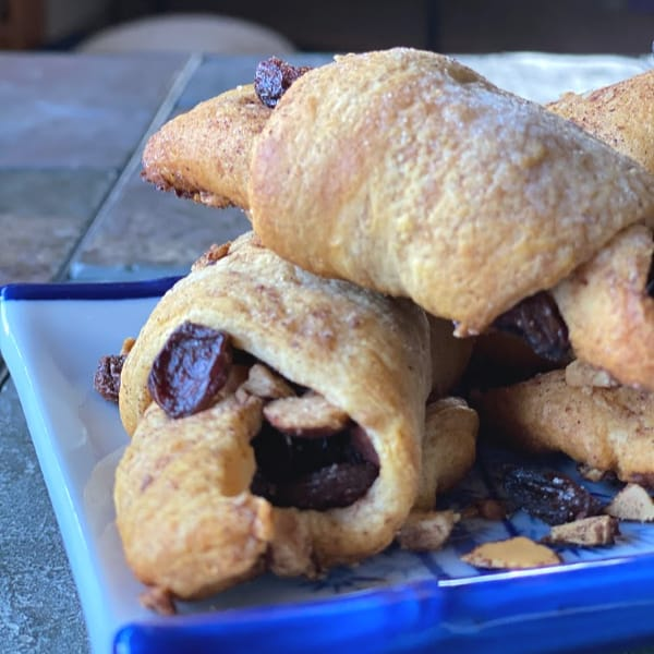 mock rugelach made with crescent roll dough