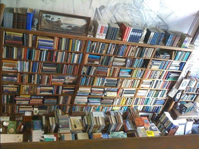 used bookstore packed with books