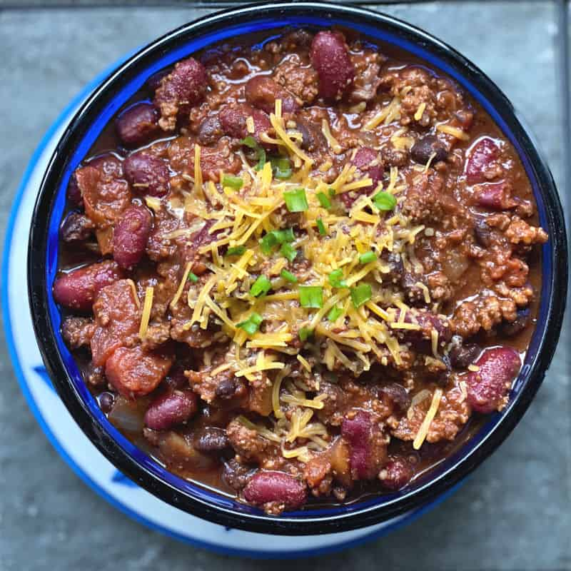 delicious bowl of chili