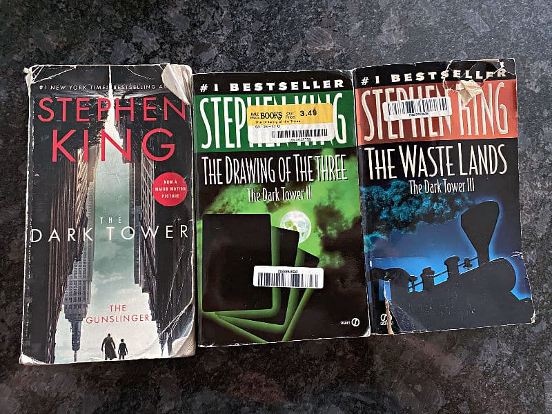 first three books in The Dark Tower series by Stephen King