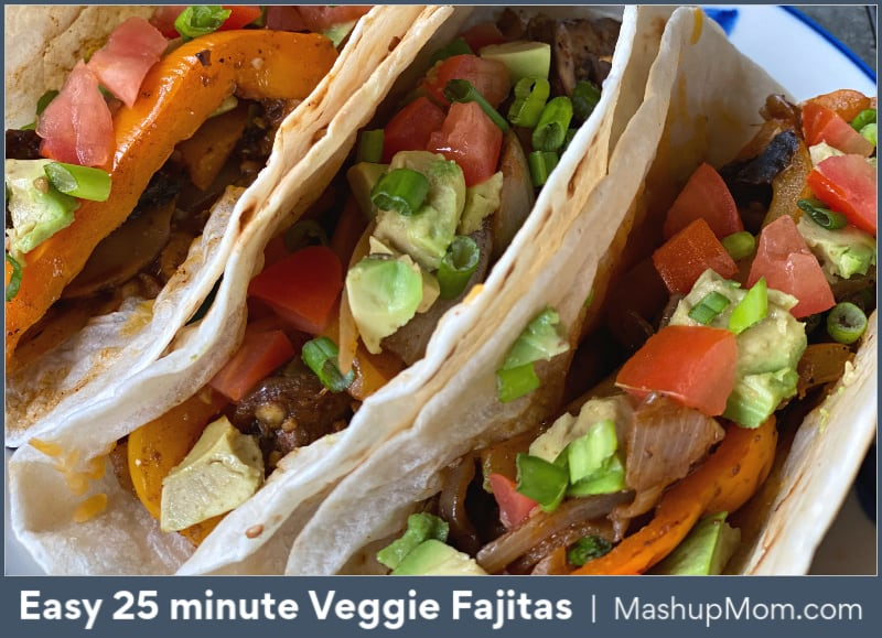 Easy 25 minute veggie fajitas recipe