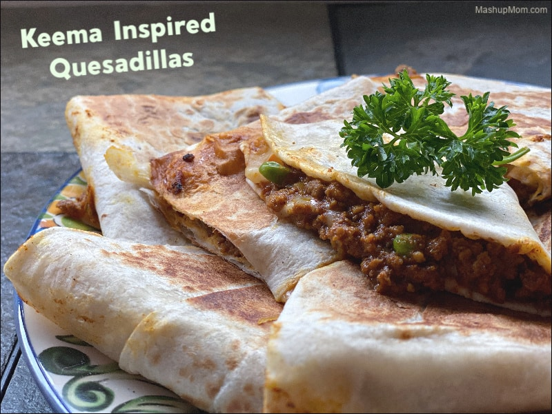 Keema Inspired Ground Beef Quesadillas bring some Indian spices to a batch of easy, cheesy quesadillas -- for a deliciously different take on your next taco night.