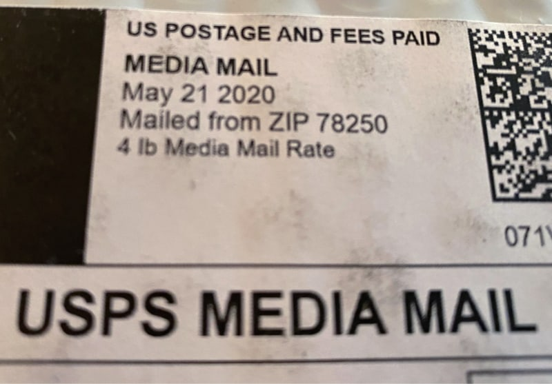 used books ship media mail rate