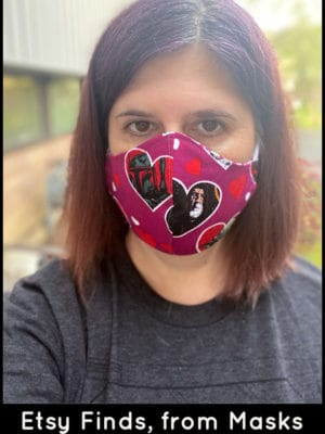 Customized Star Wars face mask from Etsy