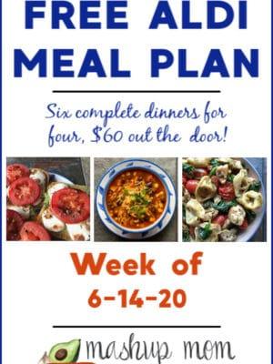 free ALDI meal plan week of 6/14/20