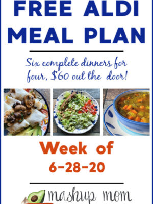 free ALDI meal plan week of 6/28/20