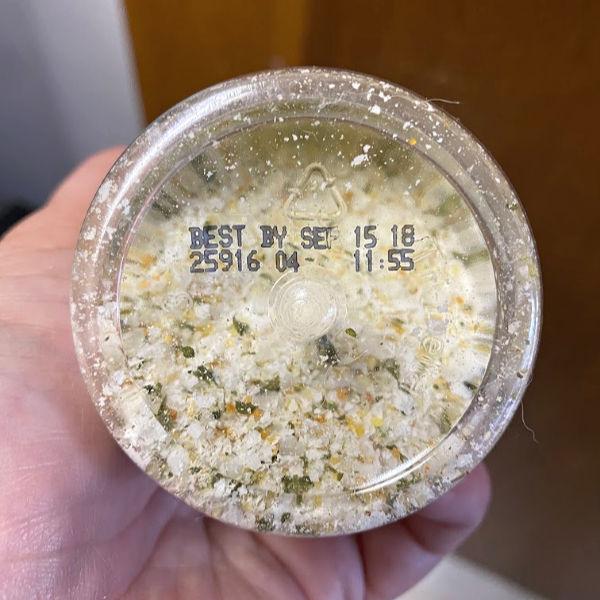 Garlic salt best by Sept 2018