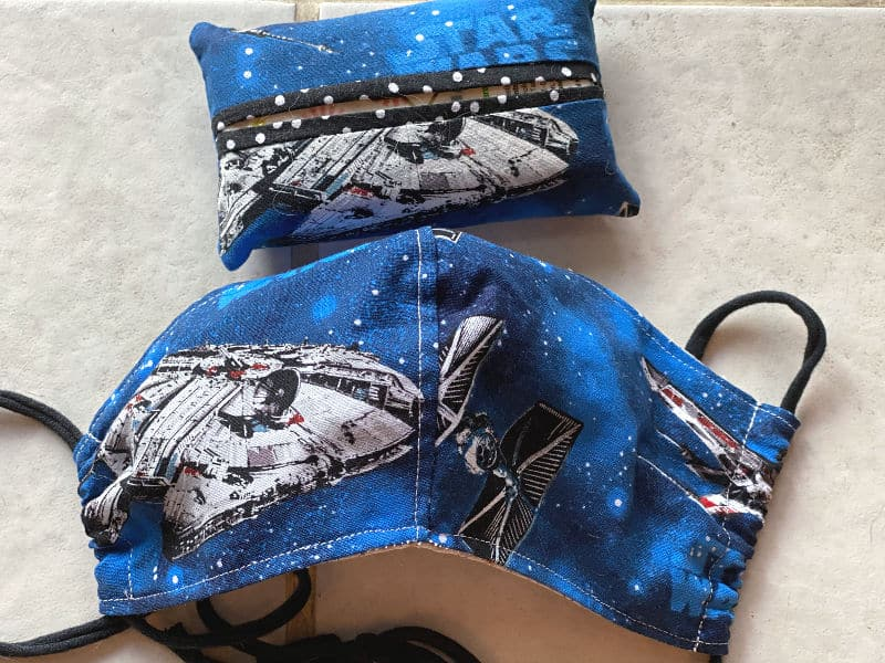 star wars face mask and tissue holder