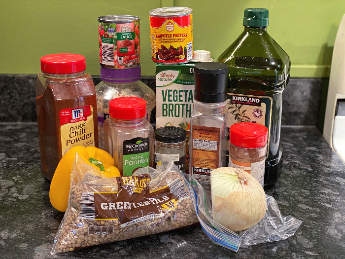 Chipotle lentil tacos ingredients