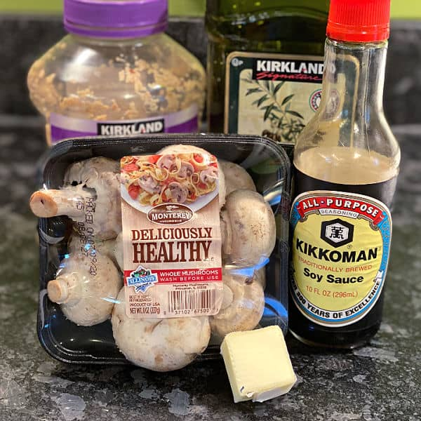 garlic soy mushrooms ingredients