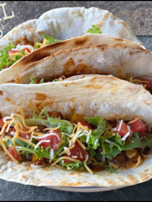 Vegetarian chipotle lentil tacos for Meatless Monday