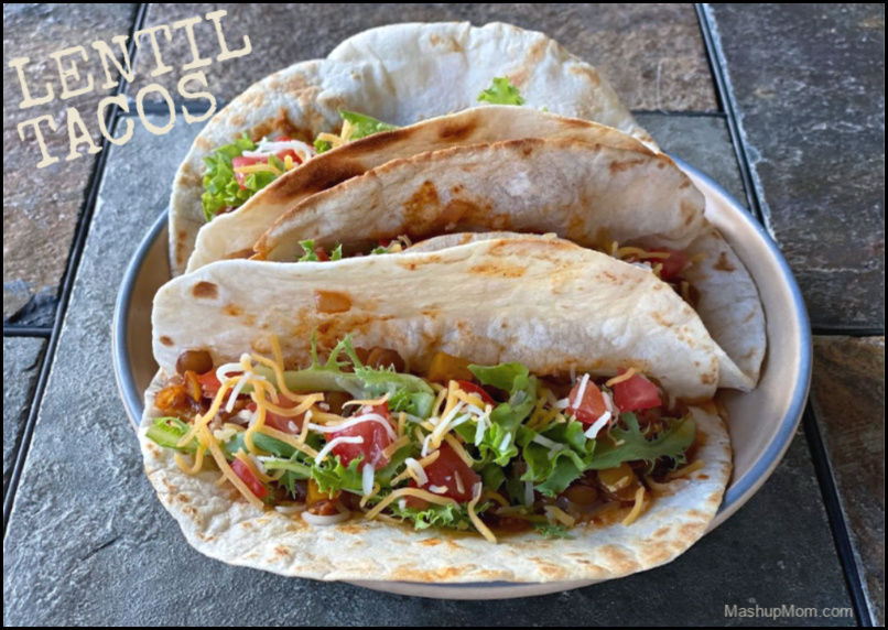 Vegetarian chipotle lentil tacos are so flavorful!