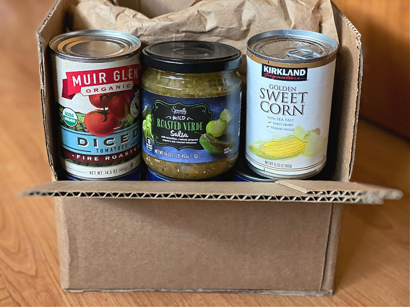 packing and moving pantry staples