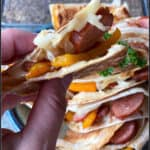 Sausage, peppers, and onions with a twist: Kielbasa Quesadillas are the perfect recipe mashup!