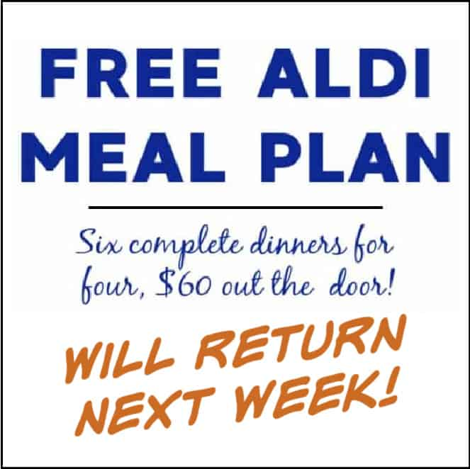 aldi meal plan will return next week
