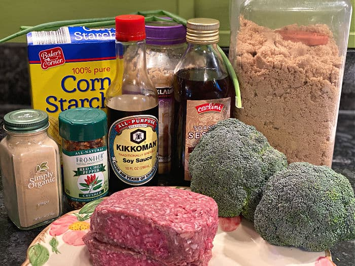 ground beef & broccoli stir fry ingredients