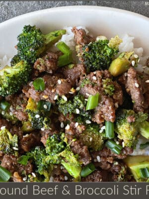 20 minute ground beef and broccoli stir fry