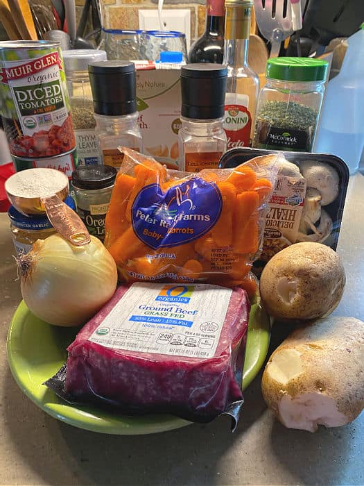 ground beef stew ingredients
