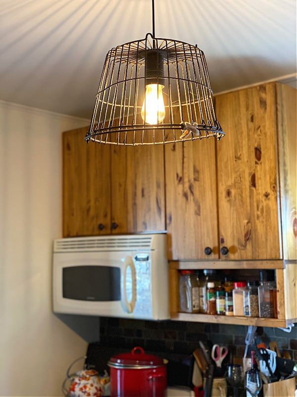 Cool light fixture with Edison bulb