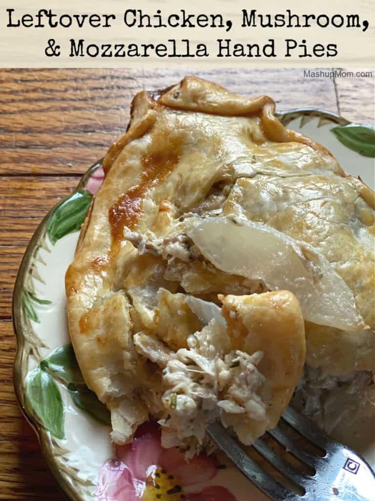 Leftover chicken, mushroom, & mozzarella hand pies -- a comfort food recipe.