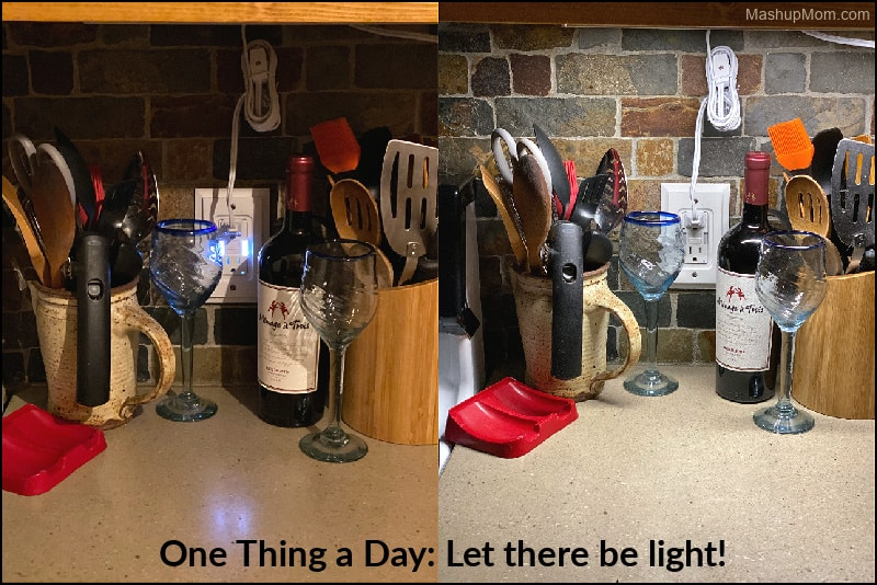 One Thing a Day: Under cabinet lighting makes a huge difference!