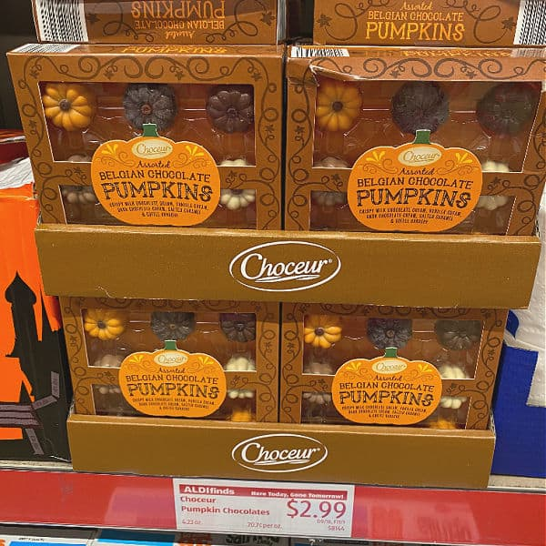 chocolate pumpkins in this week's ALDI Finds