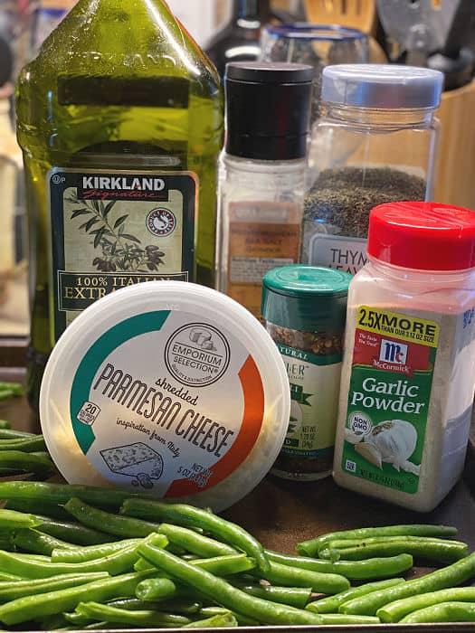 sheet pan green beans ingredients