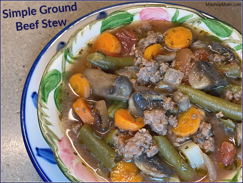 Savory comfort food: Simple ground beef stew uses affordable hamburger meat!