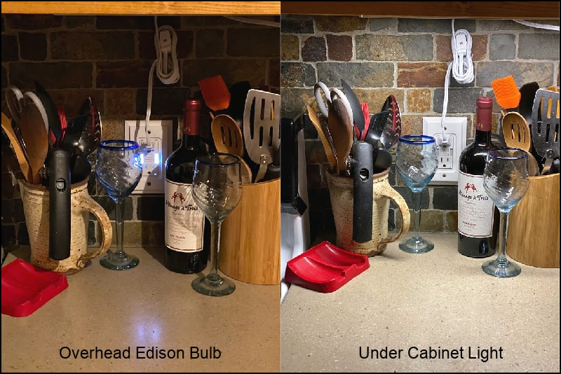 Under cabinet lighting makes a difference