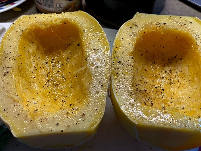olive oil and season the squash