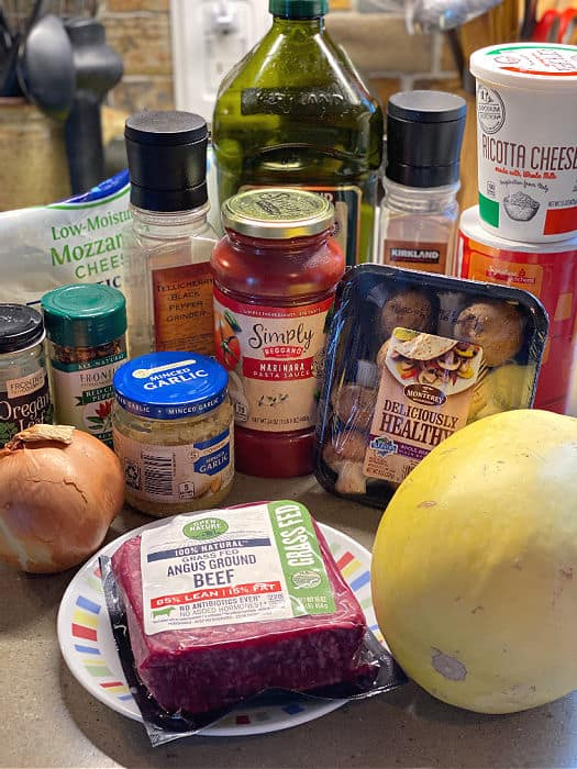 spaghetti squash skillet ingredients