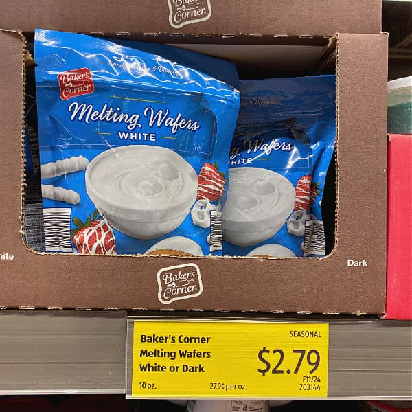 melting wafers at ALDI
